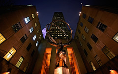 Atlas (Mark Liddell) Tags: world plaza windows sky sculpture building art television statue 30 architecture night comcast greek nbc tv globe ancient angle availablelight centre wide rockefellercenter headquarters center noflash greece atlas artdeco rockefellercentre fifthavenue rockefeller titan avenue heavens deco 5th ultra mythology looming 30rock towering fifth lowangle leelawrie rockfellerplaza theslab 14mm 30rockefellerplaza comcastbuilding netwrok renepaulchambelian