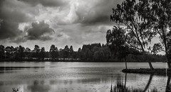 Clouds (imagomagia) Tags: light blackandwhite lake art clouds landscape fineart bnw fineartphotography blackandwhitephotography artphoto toning artphotography