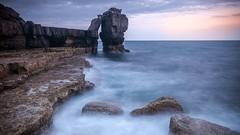 still standing (clickitysnap) Tags: longexposure sunset landscape seascapes dorset slowshutter weymouth portlandbill pulpitrock sonyalphaa700 carlzeiss1635mm