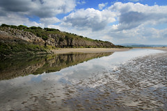 Reflections On The Bay (nigelhunter) Tags: sky cliff cloud pool reflections landscape bay coast sand mud shore ripples morecambe silverdale