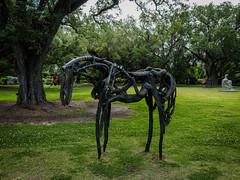 Sculpture garden-2 (uxbobham) Tags: sculpture horse art neworleans sculpturegarden
