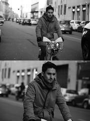 [La Mia Citt][Pedala] con il BikeMi (Urca) Tags: portrait blackandwhite bw bike bicycle italia milano bn ciclista biancoenero mir bicicletta 2016 pedalare dittico bikesharing nikondigitale bikemi ritrattostradale 85589