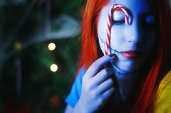 #ProjectNeverland: #TheNightmareBeforeChristmas (TheJennire) Tags: christmas xmas light portrait people cinema film luz halloween face fashion cores movie photography ginger photo doll colours foto close candy bokeh dream makeup style disney colores sally fantasy ethereal dreamy fotografia timburton thenightmarebeforechristmas conceptualphotography tumblr projectneverland