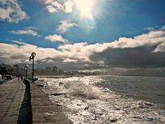 "DSCN5406 "" Como una ola en el mar "" (Aprehendiz-Ana La) Tags: blue sea sky luz sol beach nature argentina clouds mar nikon paisaje otoo olas flick sombras mardelplata nwn fotografa analialarroud"