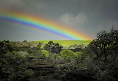 At the end of the rainbow... (Notkalvin) Tags: weather hawaii lava rainbow outdoor aftertherain supernumerary lavafield potofgold endoftherainbow supernumeraryrainbow mikekline notkalvin notkalvinphotography