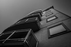 Building (Roberto Martini photography) Tags: travel windows light sky urban blackandwhite bw italy building architecture blackwhite europe italia sony liguria wideangle traveling alpha tamron slt a77 photowalking tamron1750