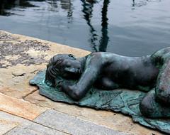 Sleeping Mermaid (Francesca Morgenco) Tags: blue sea green mermaid