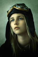 The Aviator (Luca Simonetti Photography) Tags: portrait woman girl beautiful beauty face lady clouds portraits hair fly eyes head air blueeyes dream young dreaming blonde lovely beatrice aviator