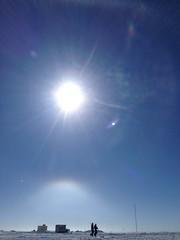 Sun optics (RubyWhatever) Tags: me halo greenland danny summit sundog