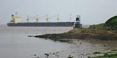 EVDOXIA shipping tanker, Portishead June 2016 2 (Bristol Viewfinder) Tags: lighthouse docks portishead north somerset shipping tanker avonmouth bristolchannel royalportburydocks dangersoftmud
