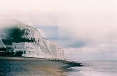 St. Margaret's Bay - Kent (jcbkk1956) Tags: sea house slr film beach analog kent error cliffs lightleak contax overexposed manual whitecliffs spoiled malfunction stmargaretsbay 167mt 24mmf28 agfa200 sunagor