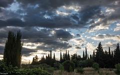 Ciel arlesien au matin (palounic) Tags: sky clouds rouge bleu ciel nuages