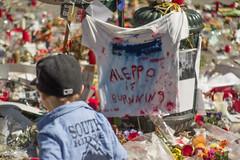 Belgium as Syria. Brussels Attacks memorial, May 2016. (joelschalit) Tags: brussels children war europe islam middleeast diversity bruxelles syria bourse isis europeanunion waronterror multiculturalism syriancivilwar brusselsattacks