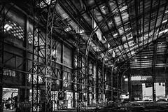 Toujours d'aplomb! (vedebe) Tags: city bw architecture noiretblanc nb rue ville usine urbain urbex abandonn netb usinedsaffecte