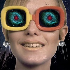 The girl with the Sputnik earrings (Flamenco Sun) Tags: sixties earring satellite telstar psychedelic groovy weird surreal twiggy 60s space sputnik