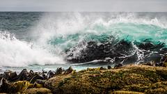 Waipapa Point (Kathrin & Stefan) Tags: ocean newzealand nature rock outdoor wave southisland tasmansea headland waipapapoint fortrose foveauxstrait