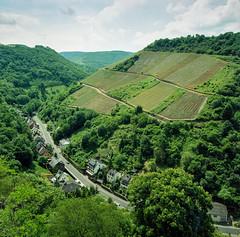 Oberwesel - Schnburg (Genghis 72) Tags: film analog vintage germany deutschland hasselblad valley medium format grn expired rhine portra allemagne rheinland pfalz rhin mittelformat oberwesel schnburg bame