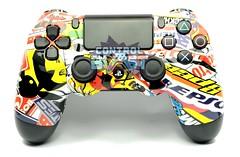 Sticker Bomb Mania Custom Xbox One Controller (controlblast) Tags: graffiti custom controller ps4 stickerbomb playstation4 customcontroller dualshock4