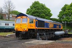 """66 763 """"Severn Valley Railway"""" - Kidderminster (GreenHoover) Tags: severnvalleyrailway svr svrdiesel dieselgala dieselgala2016 diesellocomotive loco locomotive kidderminster class66 66763 gbrf"""