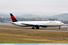 Delta Airlines - N834MH (Aviacaobrasil) Tags: deltaairlines boeing767400er sopaulogruairport alexandrebarros