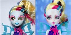 Before and After (AnnaZu) Tags: blue monster high doll ooak makeup bjd mermaid repaint lagoona faceup monsterhigh faceupartist annaku vesnushkahandmade annazu