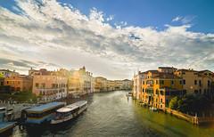 Venecia, Gran Canal (palomo834) Tags: venecia italia italy europe europa water canal gran grand sunset atardecer boat barco hdr merge nikon wide angle landscape ngc