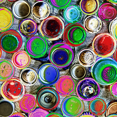 Untitled # 27 (PeteZab) Tags: abstract color colour pattern top circles colourful psychedelic effect bottletop solarised petezab peterzabulis zabzone