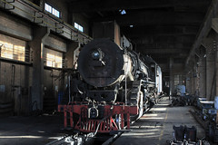 I_B_IMG_7387 (florian_grupp) Tags: china railroad train landscape asia mine desert muslim railway steam xinjiang mikado locomotive ore js steamlocomotive 282 opencastmine yamansu