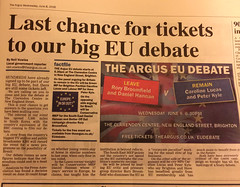 Img529652nx2 (veryamateurish) Tags: unitedkingdom referendum eu europeanunion debate brighton eveningstandard