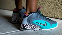 IG - @Smallzgotkickz (smallzgotkickz) Tags: nike nikexsolecollectorxlasvegas nikefoamposite penny pennyhardaway penny1 alamo san antonio spurs all star game custom sneakers vegas