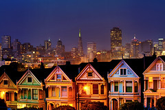 San Francisco (Elliot Gilfix) Tags: elliot gilfix elliotgilfix alamo square alamosquare sanfrancisco san francisco houses house building buildings skyscraper skyscrapers evening dusk night sunset painted ladies paintedladies california