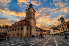 Brasov Sunset (davecurry8) Tags: street sunset romania townhall brasov councilsquare