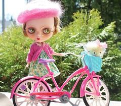 Theda Loves her Bike Joey