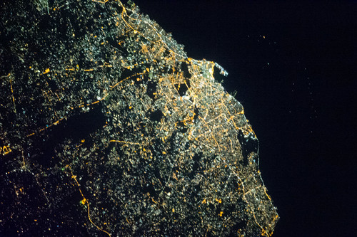 Tripoli, Libya at Night (NASA, International Space Station, 04/18/13)