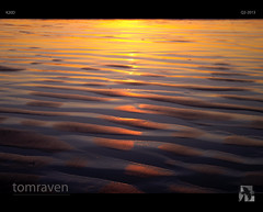 Reflected Sunset (tomraven) Tags: light sunset reflection beach sand wetsand tomraven bestcapturesaoi aravenimage q22013