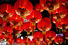 Red above (Chez C. - busy..) Tags: red temple chinese cny lanterns hanging tradition  nikond600