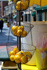 Some Lemons (Kasey Specian) Tags: street yellow three downtown lemonade lemons vendor streetfair somervillenj