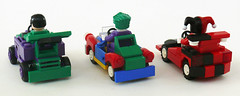 Joker Racers back (Oky - Space Ranger) Tags: car dc lego clown prince super harley crime batman joker heroes racers universe riddler quin