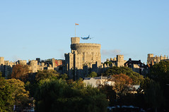 Windsor Castle (Tomas Burian) Tags: old uk travel blue autumn sunset england sky urban building castle english history architecture plane buildings catchycolors landscape evening town nikon october cityscape image unitedkingdom britain postcard united picture royal cityscapes property kingdom bluesky scene icon tourist architectural historic gb windsor historical british colourful nikkor berkshire built attraction windsorcastle 2010 haritage d90 nikond90 nikkor18105