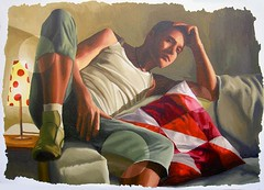realism painting of man sit on sofa (iloveart106) Tags: man painting sofa sit realism