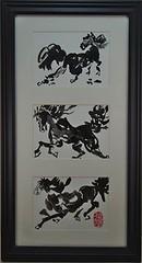 Jennifers Sumi Horses (MonksDesigns) Tags: horses zen chinesebrushpainting sumiink