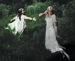 Being taken (Rachel.Adams) Tags: girls portrait green forest outside greek photography gold demeter dress goddess harvest fantasy underworld legend goddesses persephone greekgod greekmyth goddessofharvest greeklegend demeterandpersephone persephoneanddemeter