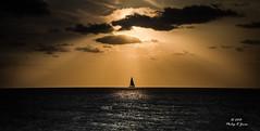 Sailing Away.. (Philip R Jones) Tags: morning sea seascape water composite sunrise boat morninglight alone yacht rays minimalism mallorca lightrays raysoflight shallowdepthoffield shaftsoflight hss calamillor mygearandme