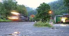 Welch.  West Virginia. (-Metal-M1KE-) Tags: ns wv westvirginia welch cpl norfolksouthern colorpositionlights mountainrailroading