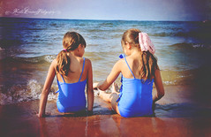 (Krista Cordova Photography) Tags: girls lake playing beach water kids children sand waves lakemichigan littlegirls cutekids
