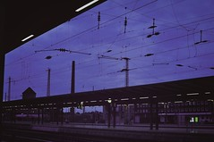 at the trainstation (Mari-e-l-l-a) Tags: travel night germany outside dawn nikon wanderlust trainstation bremen traveling d5000