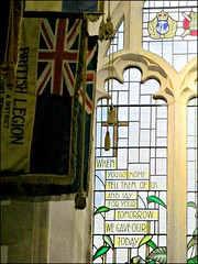 """...FOR YOUR TOMORROW WE GAVE OUR TODAY"" (pefkosmad) Tags: uk november church window wales war sunday banner cardiff stainedglass remembranceday remembrance quotation wartime armistice britishlegion november11 veronicawhall warmemorialwindow stjohnthebaptistcityparishchurch johnmaxwelledmonds"