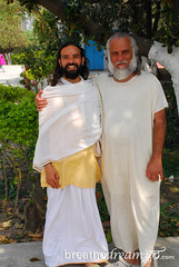 Swami Brahmdev and Yogi Vishva, Rishikesh, India (Breathedreamgo.com) Tags: travel vacation india tourism canon photography asia photographer photos adventure yogi swami ashram rishikesh aurovalley