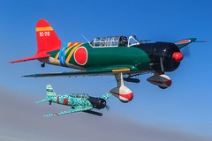 Tora! Tora! Tora! Aichi D3A Val Dive Bomber and Nakajima B5N Kate Replicas (Norman Graf) Tags: 4134527 43766 ai313 at6 at6d aichi airshow aircraft airplane bi78 bt13b craighutain d3a divebomber dougderr efd ellingtonfield harvard kate n3242g n56478 nakajimab5n northamerican performer pilot plane replica snj texan toratoratora trainer val valiant vultee woh wwii warbird wingsoverhoustonairshow