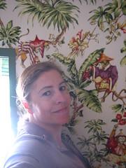 fun monkey (Ladybadtiming) Tags: light sun selfportrait me window monkey fabric deco lemasblanc